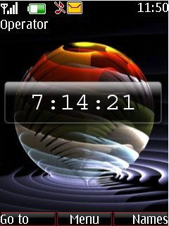 3D Goal Color Clock S40 Theme Mobile Theme