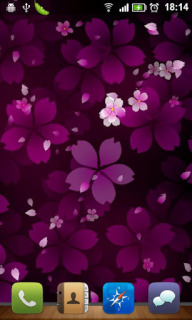 Sakura Purple Flower For Android Theme Mobile Theme