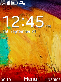 Colors Abstract Clock S40 Theme Mobile Theme