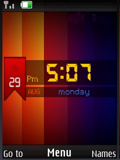Colors IPhone Clock S40 Theme Mobile Theme