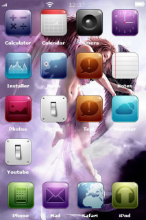 Hot Beauty Angel For IPhone Theme Mobile Theme