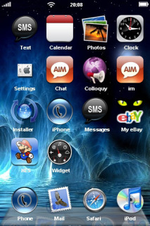 3D Blue Water Waves For IPhone Theme Mobile Theme