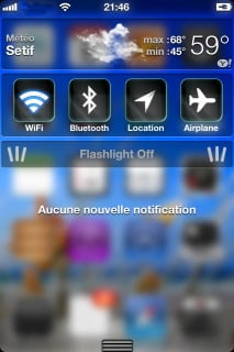 Blue Glass HD For IPhone Theme Mobile Theme