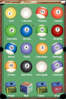 Snooker Balls For IPhone Theme Mobile Theme