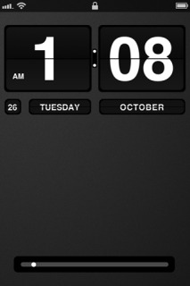 Black Flip Clock IPhone Theme Mobile Theme