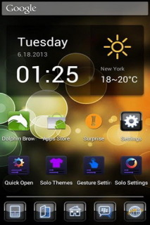Blackberry And Bokeh AndroidTheme Mobile Theme