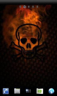 Fire Glow Skull For Android Theme Mobile Theme