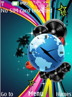 Abstract Colors Music Clock S40 Theme Mobile Theme
