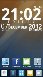 Awesome Clean Clock For Android Theme Mobile Theme