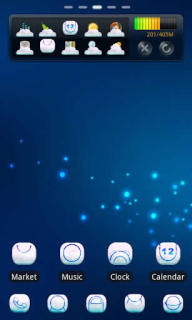 Blue Dots Coud For Android Theme Mobile Theme
