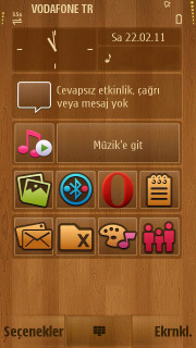 Wood Icons For S60v5 Theme Mobile Theme