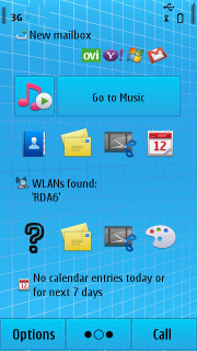 Blue Blocks Abstract S60v5 Theme Mobile Theme