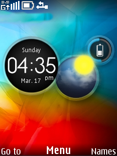 Abstract Colors Clock S40 Theme Mobile Theme