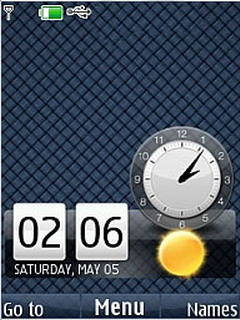 Strips Blue Nokia Clock S40 Theme Mobile Theme