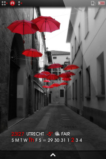 Ls Street Red Umbrella Flying IPhone Theme Mobile Theme