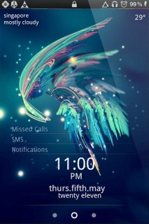 3D Colors Wing Blue IPhone Theme Mobile Theme