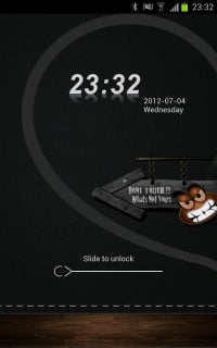 Dont Touch Phone Lock Clock Android Theme Mobile Theme