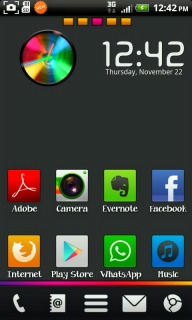 Rainbow Box Clock For Android Theme Mobile Theme