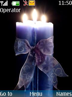 Love Candles Light S40 Theme Mobile Theme