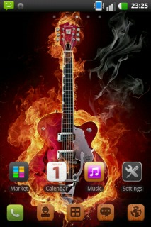Fiery Guitar Abstract For Android Theme Mobile Theme