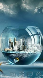 Fish Bowl City Android Theme Mobile Theme
