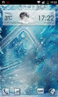 Blue Ice Cold Android Theme Mobile Theme