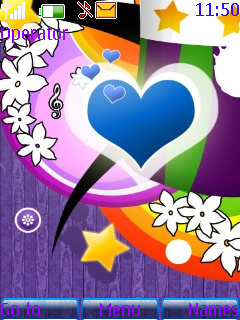 Blue Heart S40 Theme Mobile Theme