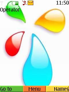 Colorful Drops S40 Theme Mobile Theme