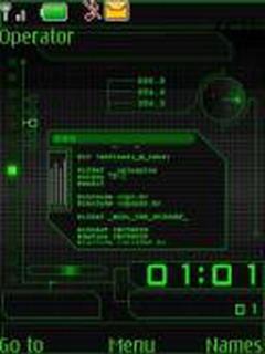 Green Digital Nokia S40 Theme Mobile Theme