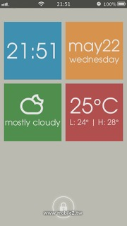 Ls Squares Clock Weather IPhone Theme Mobile Theme