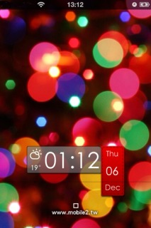 Ls HD Bokeh Colors Clock IPhone Theme Mobile Theme