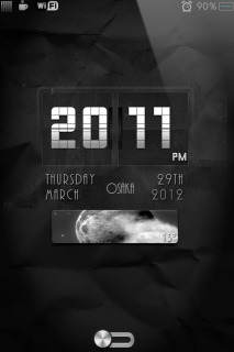 Classic Flip Clock IPhone Theme Mobile Theme