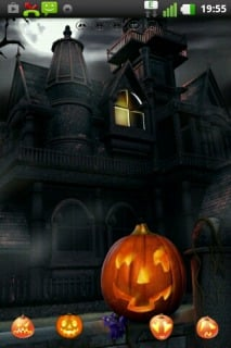 Halloween Black House For Android Theme Mobile Theme