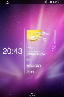 Pink Shines Sky Lockedscreen IPhone Theme Mobile Theme