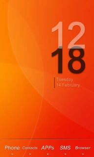 Nanairo Orange Clock For Android Theme Mobile Theme