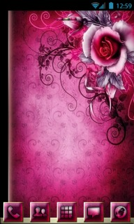 Abstract Pink Rose For Android Theme Mobile Theme