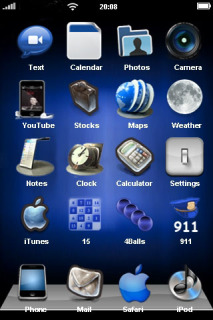Blue Chill & Icons For IPhone Theme Mobile Theme