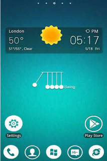 Swing & Weather Clock Android Theme Mobile Theme