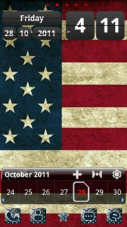 USA Flag Clock Android Theme Mobile Theme