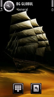 Sailing Ship 3D S60v5 Theme Mobile Theme