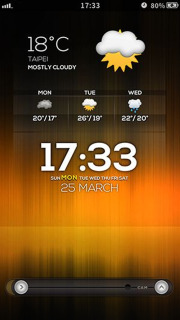 LS Orange Clock IPhone Theme Mobile Theme
