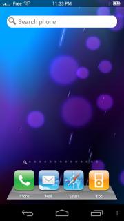 Blue Bubbles Fake Android Theme Mobile Theme