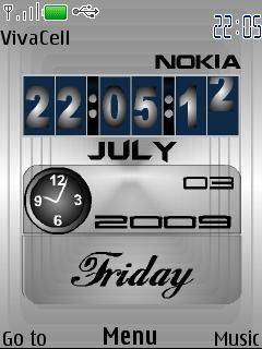 Flip Modern Clock S40 Theme Mobile Theme