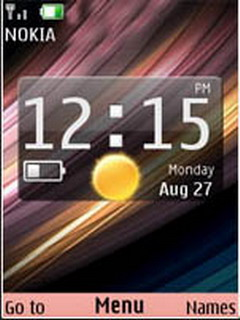 Abstract Colors Sense Clock S40 Theme Mobile Theme