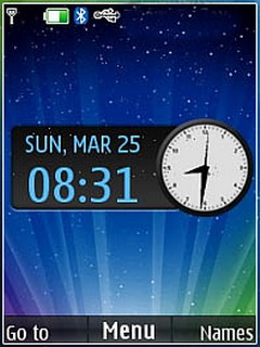 Shining Lights Clock S40 Theme Mobile Theme