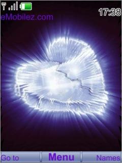 Ice Shine Heart S40 Theme Mobile Theme