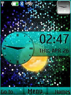 Mars Colors Dots Clock S40 Theme Mobile Theme