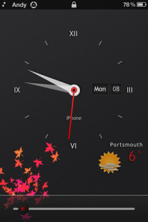 Analog Simple Clock Apple IPhone Theme Mobile Theme