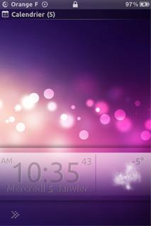 Galaxy Pink Bokeh Lockscreen IPhone Theme Mobile Theme