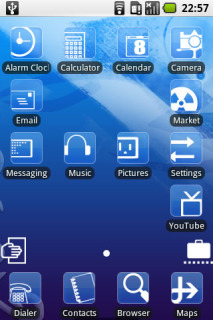 Simple Blue Icons Android Theme Mobile Theme